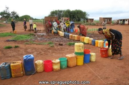 Buckets- the long line for water at the public spigot.