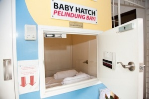 "A ""baby hatch""- OrphanCare, a NGO in Malaysia provides a safe area for mothers to leave their newborns instead of abandoning them in unsafe places."