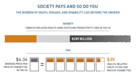 Society pays infographic