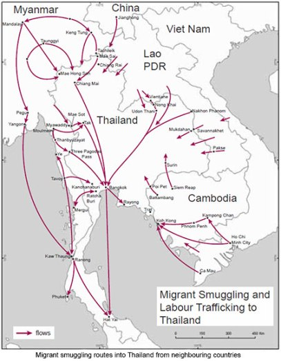 Migrants smuggled to Thailand UN