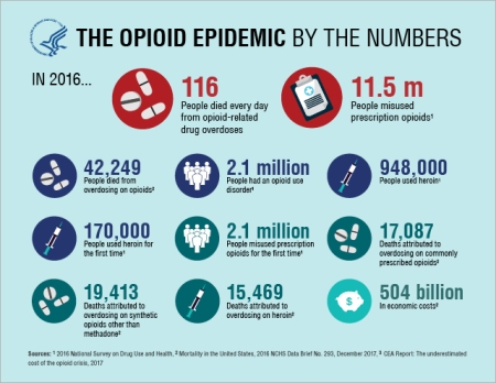 opioid epidemics by numbers