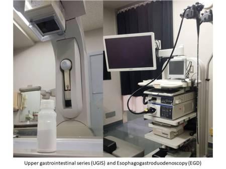 Upper gastrointestinal series(UGIS) and Esophagogastroduodenoscopy(EGD)